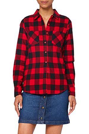 Urban classics Damska koszula flanelowa w kratkę