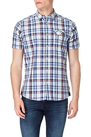 Pioneer Męska koszula z krótkim rękawem w kratkę