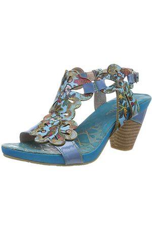LAURA VITA Sandały dziewczęce Dacxo 209 Peeptoe, - Niebieska Bleu Bleu - 35 EU