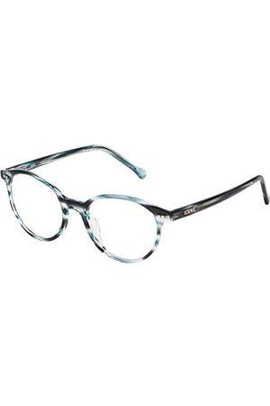Loewe Unisex dla dorosłych VLW9594906WR oprawka okularów, (Shiny Streaked Blue), 55