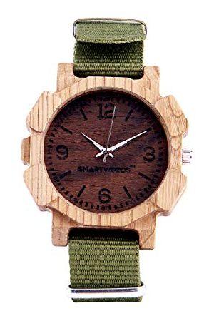 SmartWoods Zegarki - Unisex Dorośli Analogowy Automatyczny zegarek z nylonową bransoletką 5902706213812