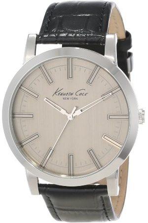 Kenneth Cole Męski analogowy zegarek kwarcowy ze skórzanym paskiem IKC1931_BEIGE