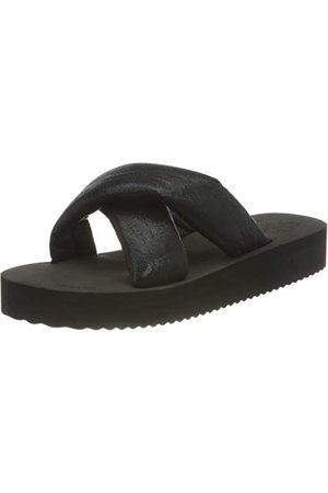 flip*flop Kobieta Sandały - Damskie sandały na platformie chip, - Black Metallic Black - 41 EU
