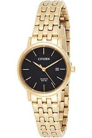 Citizen Kobieta Zegarki - Damski analogowy zegarek kwarcowy z bransoletką ze stali szlachetnej EU6092-59E