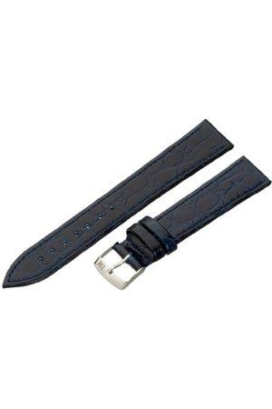 Morellato Bransoletka skórzana do zegarka męskiego BIRMINGHAM niebieska 18 mm A01U1563821062CR18