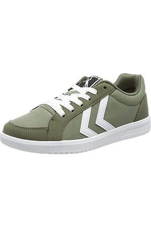 Hummel Unisex Deuce Court Canvas Sneaker, wetiver - 40 EU