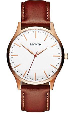 MVMT Męski analogowy zegarek kwarcowy ze skórzaną bransoletką D-MT01-WBR
