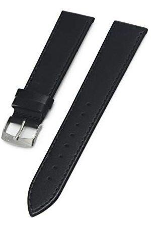 Morellato Bransoletka skórzana do zegarka unisex AGILA czarna 18 mm A01X3425695019CR20