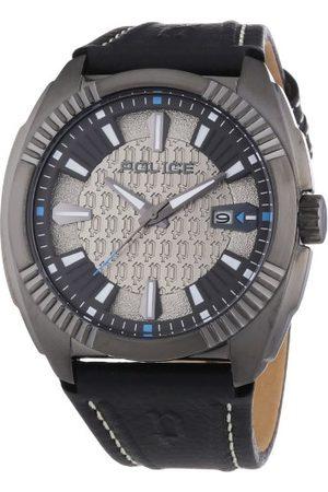 Police Męski zegarek na rękę XL PATHFINDER analogowy kwarcowy skóra P13596JSU-61