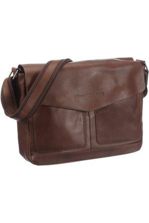Tommy Hilfiger SPENCER Messenger BM56915605, męska torba kurierska 36 x 11 x 30 cm (szer. x wys. x gł.), - (Dark Brown 201) - 36x11x30 cm (B x H x T)