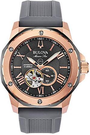 BULOVA Męski analogowy automatyczny zegarek z gumowym paskiem 98A228