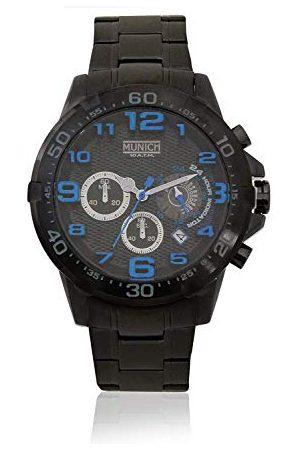 Munich Unisex dla dorosłych analogowy zegarek kwarcowy z bransoletką ze stali szlachetnej MU+139.1C