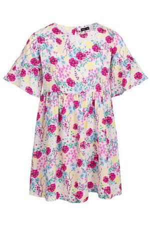 Endo Sukienka z krótkim rękawem, deseń w kolorowe kwiaty, 2-8 lat
