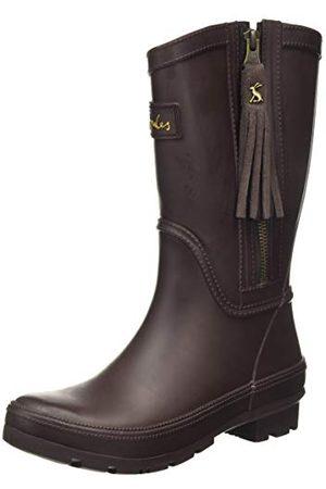 Joules Damskie buty przeciwdeszczowe Rosalind, Ciemny brąz - 35 EU