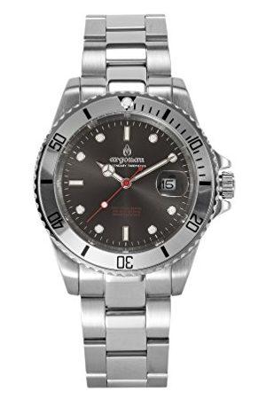 ARGONAU Uniseks dla dorosłych analogowy zegarek kwarcowy z bransoletką ze stali szlachetnej AU2002