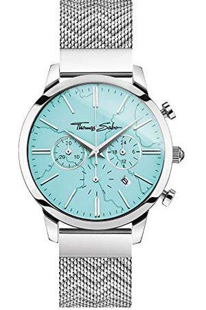 Thomas Sabo Unisex analogowy zegarek kwarcowy z bransoletką ze stali szlachetnej WA0366-201-215-42 mm