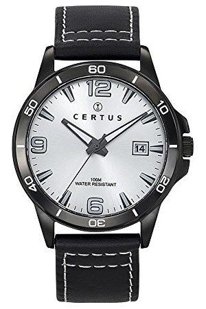 Certus Męski analogowy zegarek kwarcowy ze skórzanym paskiem 611097
