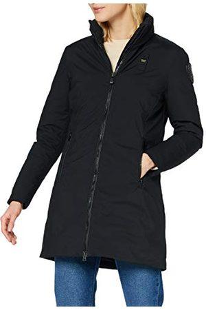 Blauer Damski płaszcz Impermeabile/Trench Lunghi Imbottito Piuma