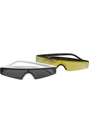 Urban classics Unisex Sunglasses KOS 2-pak okularów przeciwsłonecznych, czarne/białe, jeden rozmiar