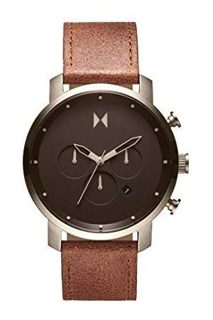 MVMT Męski analogowy zegarek kwarcowy ze skórą cielęcą, pasek 2800070-D
