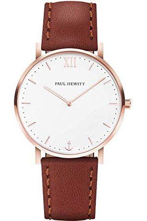 Paul Hewitt Unisex analogowy zegarek kwarcowy ze skórzanym paskiem PH-SA-R-St-W-2M