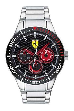 Scuderia Ferrari Mężczyzna Zegarki - Męski zegarek kwarcowy z wieloma tarczami z paskiem ze stali nierdzewnej 0830589