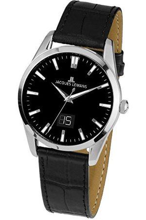 Jacques Lemans Zegarki - Unisex analogowy zegarek kwarcowy ze skórzanym paskiem 1-1828A
