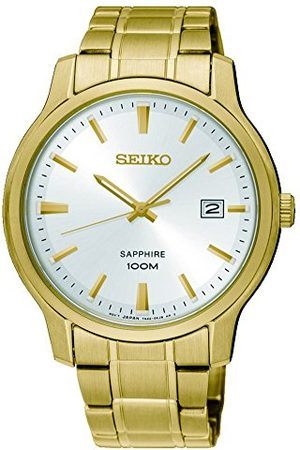 Seiko Męski analogowy zegarek kwarcowy z paskiem ze stali nierdzewnej SGEH70P1
