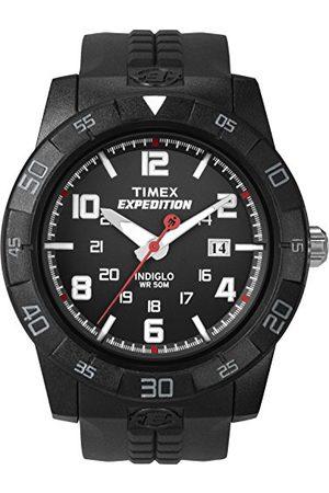 Timex Męski wytrzymały analogowy zegarek kwarcowy z wyświetlaczem chronografu i plastikowym paskiem pasek