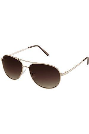 Burgmeister SBM117-122 Aviator okulary przeciwsłoneczne męskie, złoto - złoto - jeden rozmiar