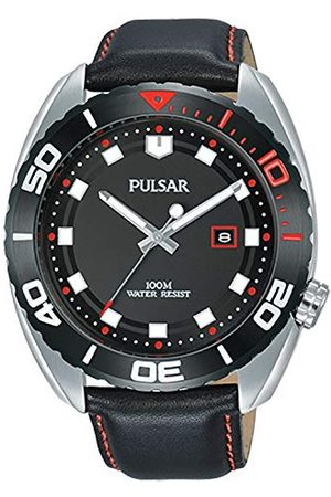 Pulsar Męski analogowy zegarek kwarcowy ze skórzanym paskiem PG8287X1