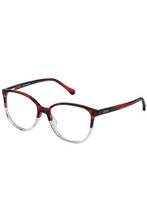Loewe Unisex VLWA17M5301FW oprawka okularów, czerwona (Shiny Streaked Red), 55