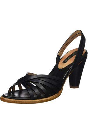 Neosens Damskie sandały S967 przywrócone skóra całkowita hebony/Montua z otwartymi palcami, Black Total Ebony Total Ebony - 40 EU