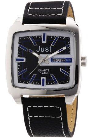 Just Watches Męski zegarek na rękę analogowy kwarcowy skóra 48-S3726-BL