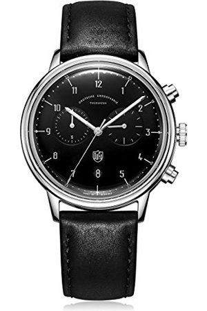 DUFA Unisex Chronograf kwarcowy zegarek ze skórzanym paskiem DF-9003-01