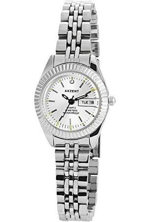 Akzent Męski analogowy zegarek kwarcowy z bransoletką ze stali szlachetnej SS872250002