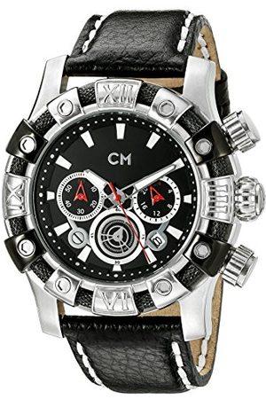 Carlo Monti Męski zegarek na rękę XL Arezzo chronograf kwarcowy skóra CM122-122