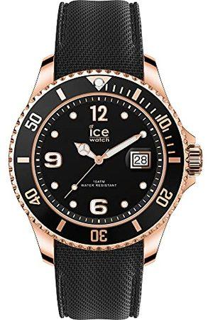 Ice-Watch ICE steel Black Rose-Gold - zegarek męski z silikonowym paskiem - 017327 (bardzo duży)