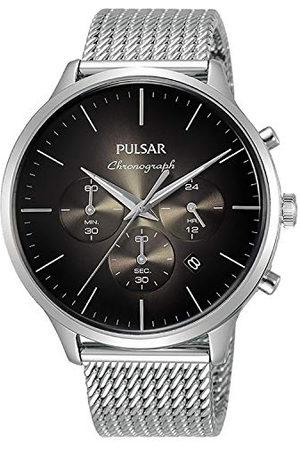Pulsar Mężczyzna Zegarki - Zegarek kwarcowy z bransoletką ze stali szlachetnej 8431242965345