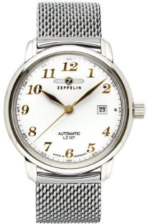 Zeppelin Męski zegarek na rękę XL LZ127 Graf analogowy automatyczny stal szlachetna 7656M1