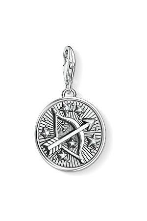 Thomas Sabo Mężczyzna Bransoletki - Damski męski wisiorek charm, znak zodiaku, Charm Club, srebro wysokiej próby 925, 1648-643-21