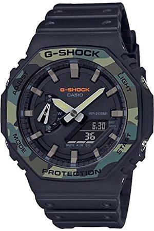 Casio Męski analogowy – cyfrowy zegarek kwarcowy z bransoletką z żywicy GA-2100SU-1AER