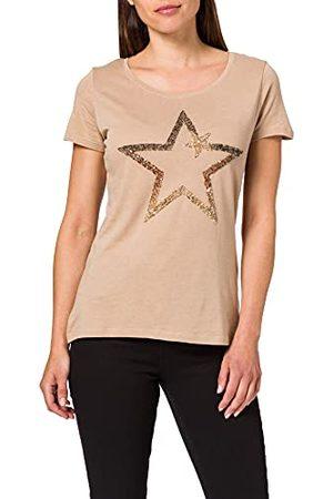 Key Largo Damski t-shirt TWINKLE round, złoty, XS (S)