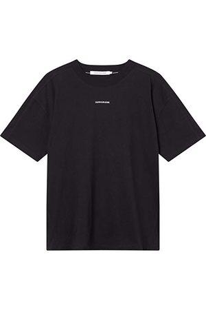 Calvin Klein Damska luźna koszulka z mikro-brandingiem