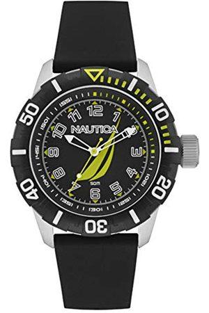 Nautica Męski analogowy zegarek kwarcowy z gumowym paskiem NAI08513G