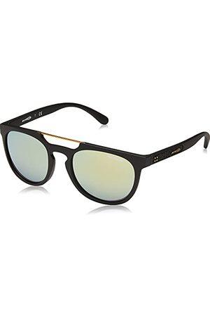 Arnette Męskie okulary przeciwsłoneczne 0AN4237 01/8N 52, czarne (matowe Black/Mirrorgreengold)