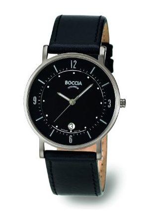 Boccia Mężczyzna Zegarki - Męski zegarek na rękę ze skórzaną bransoletą Trend 3533-01