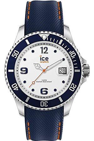 Ice-Watch ICE steel White blue - zegarek męski z silikonowym paskiem - 016771 (Medium)