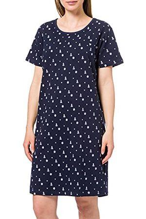 Blue Seven Damska Big Shirt, okrągły dekolt, górna część piżamowa