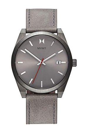MVMT Męski analogowy zegarek kwarcowy ze skórzanym paskiem ze skóry cielęcej 2800042-D